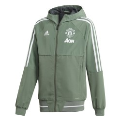 Veste survêtement junior Manchester United vert 2017/18