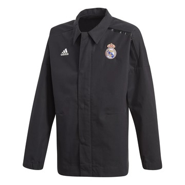 Veste imperméable junior Real Madrid ZNE noir 2017/18