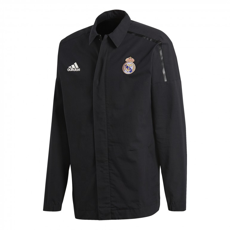 Veste imperméable Real Madrid ZNE noir 2017/18