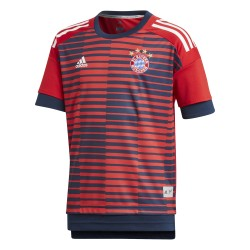 Maillot avant match junior Bayern Munich rouge 2017/18