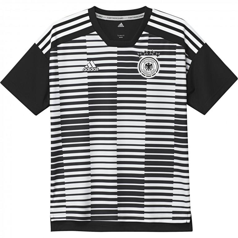 Maillot avant match junior Allemagne noir blanc 2018