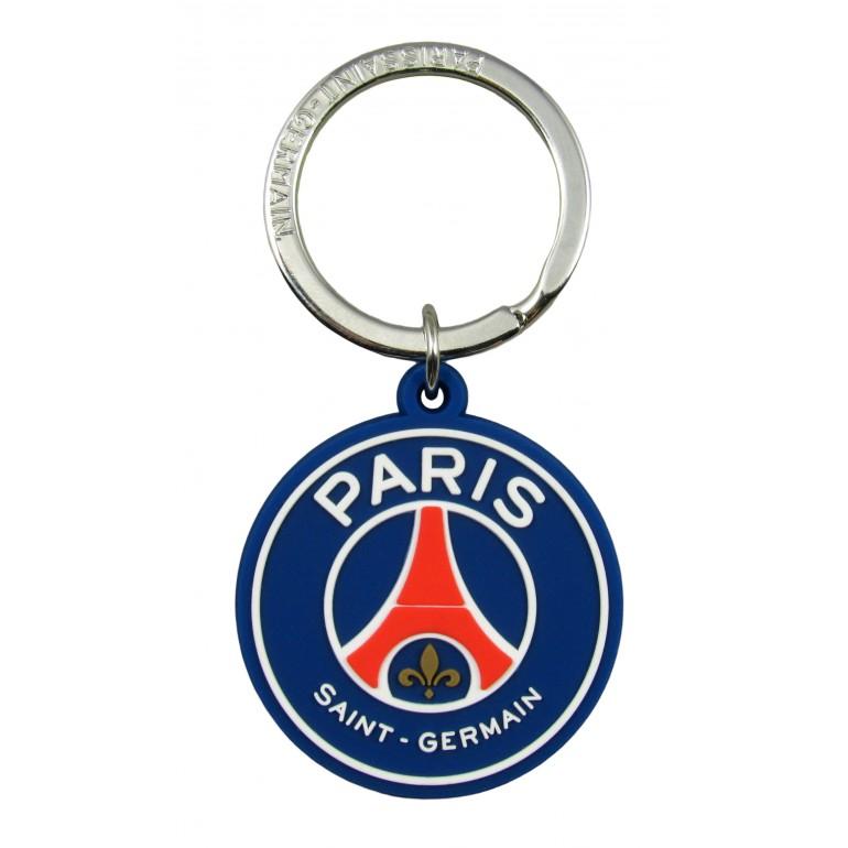 """Porte clefs caoutchouc """"logo"""" PSG"""