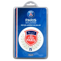 "Sticker relief ""ici Paris"" PSG"