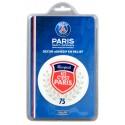 """Sticker relief """"ici Paris"""" PSG"""