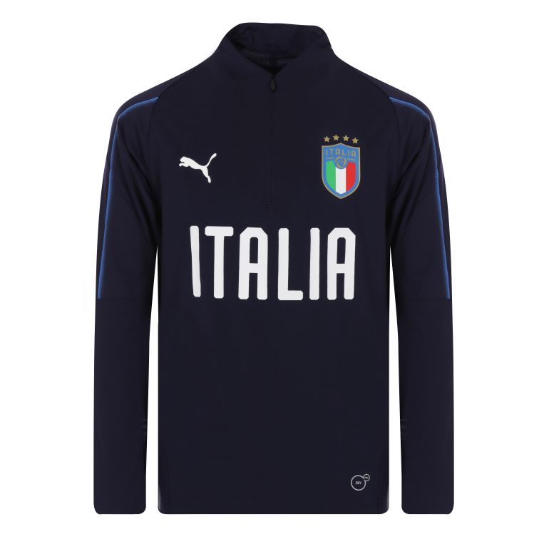Sweat zippé junior Italie bleu 2018