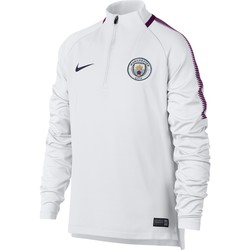 Sweat zippé junior Manchester City blanc 2017/18