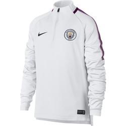 Sweat zippé junior Manchester City blanc 2017/18