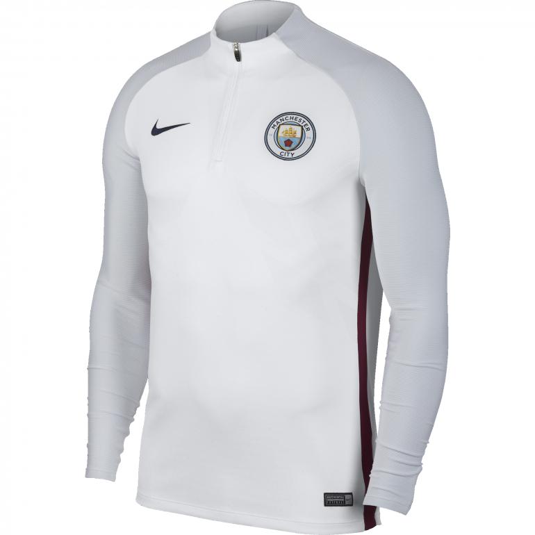 Sweat zippé Manchester City technique blanc 2017/18