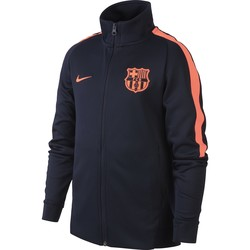 Veste survêtement junior FC Barcelone bleu orange 2017/18