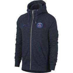Veste à capuche PSG molleton bleu foncé 2017/18