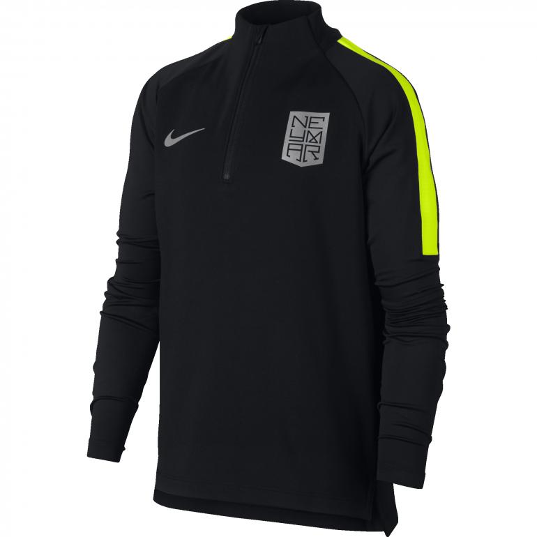 Sweat zippé junior Neymar noir 2017/18