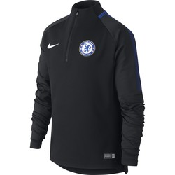 Sweat zippé junior Chelsea noir 2017/18