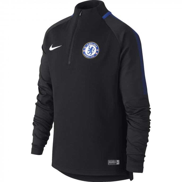 Sweat zippé junior Chelsea noir 2017/18