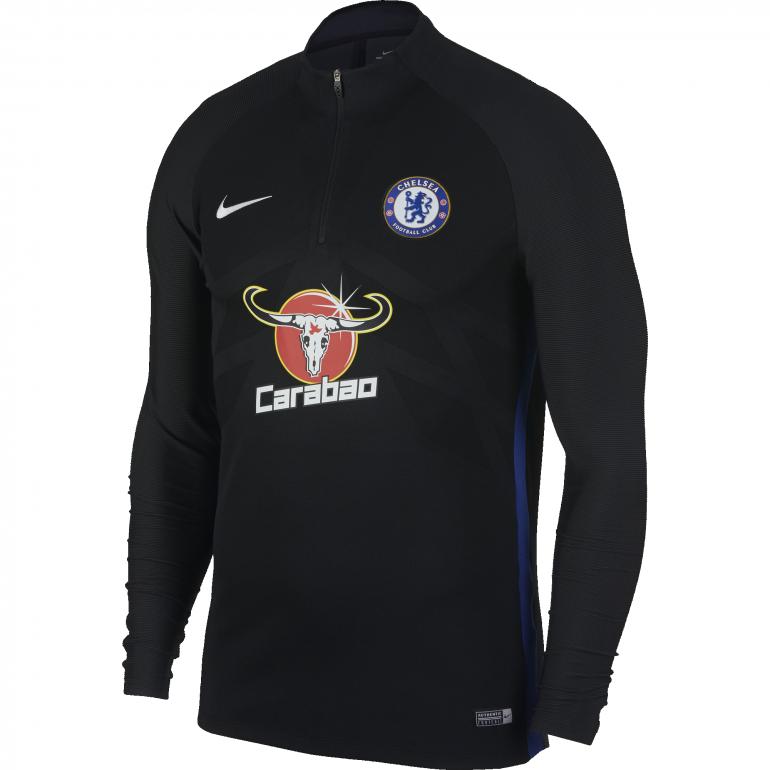 Sweat zippé Chelsea technique noir 2017/18