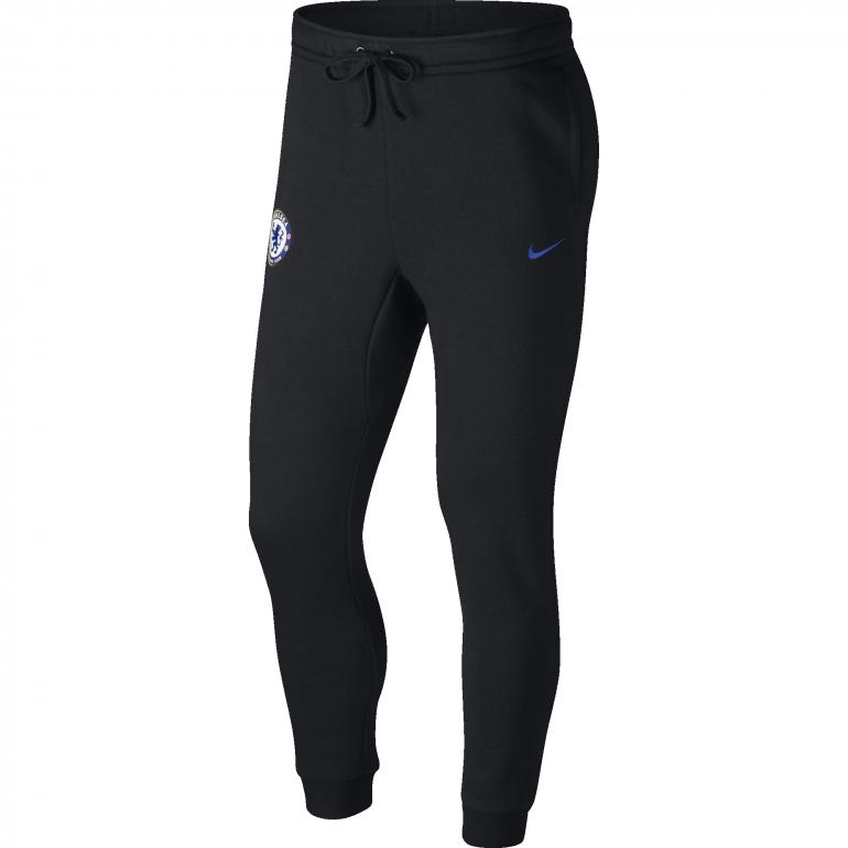 Pantalon survêtement Chelsea molleton noir 2017/18