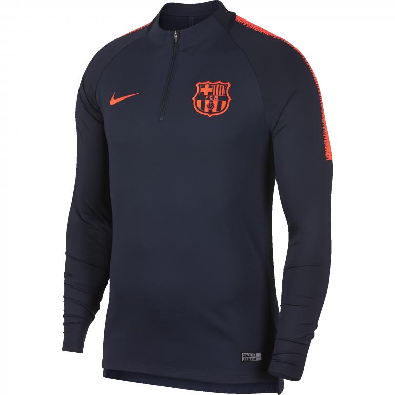 Sweat zippé FC Barcelone bleu foncé 2017/18