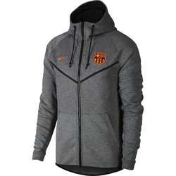 Veste à capuche FC Barcelone Tech Fleece gris 2017/18