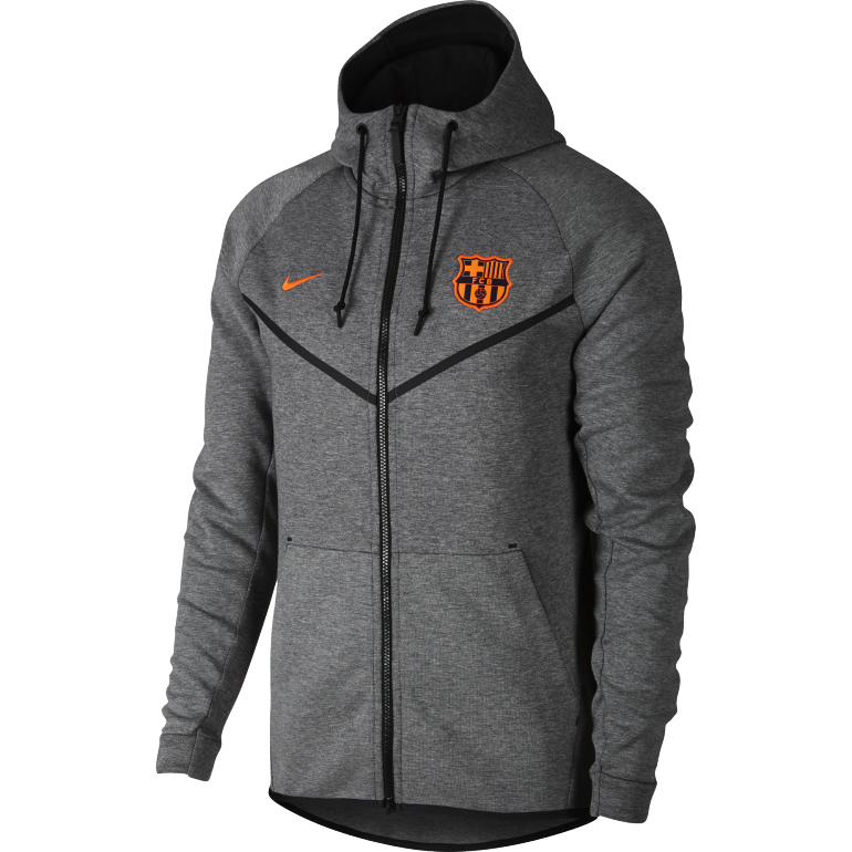 veste capuche fc barcelone tech fleece gris 2017 18 sur. Black Bedroom Furniture Sets. Home Design Ideas
