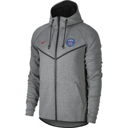 Veste à capuche PSG Tech Fleece gris 2017/18