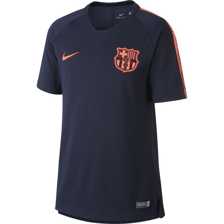 Maillot entraînement junior FC Barcelone bleu foncé 2017/18