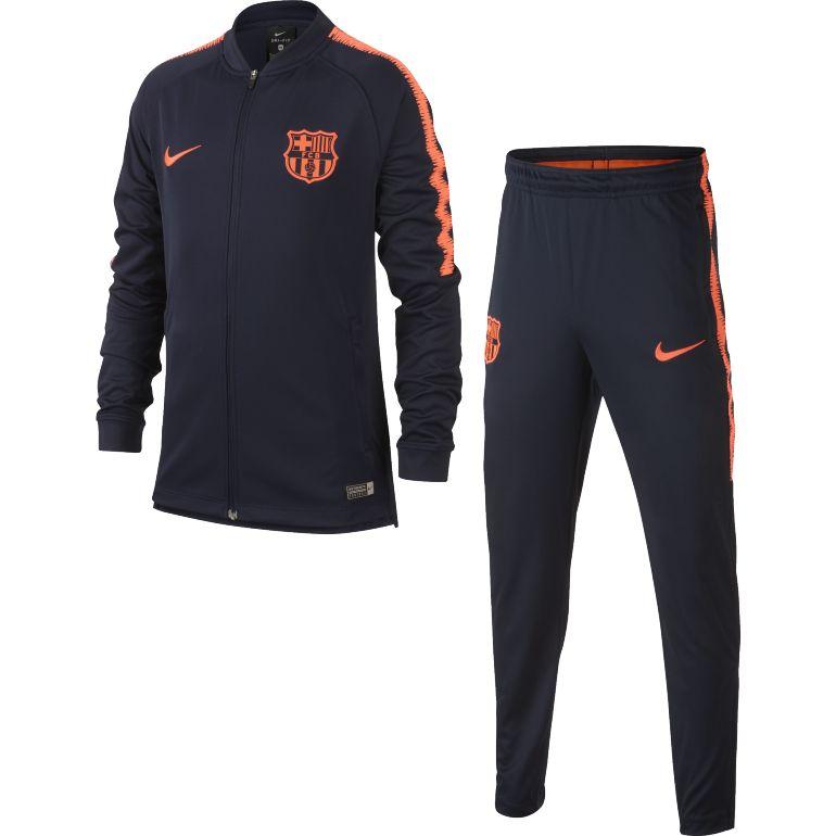 Ensemble survêtement junior FC Barcelone bleu foncé 2017/18