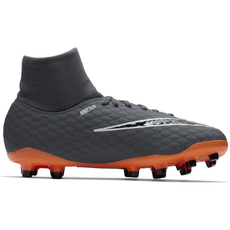 first rate b4df7 27aba Hypervenom Phantom III junior Academy montantes FG noir orange