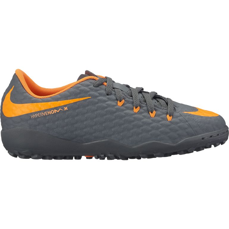 Hypervenom PhantomX III junior Academy turf noir orange