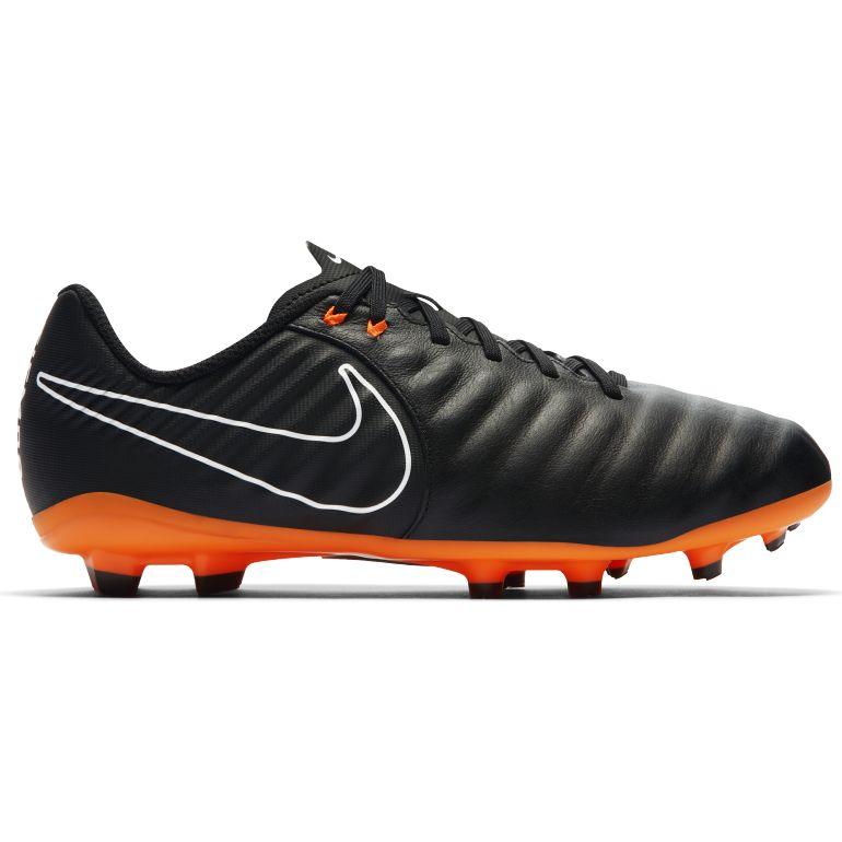 Nike Chaussures Tiempo x Légère IV Noir/Orange Semelle Turf, Noir