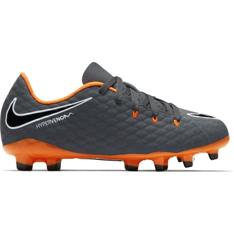 Hypervenom Phantom III junior Academy FG noir orange