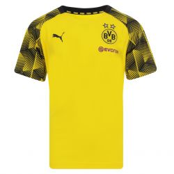 Maillot entraînement junior Dortmund jaune rayé 2017/18