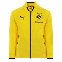 Veste survêtement junior Dortmund jaune 2017/18