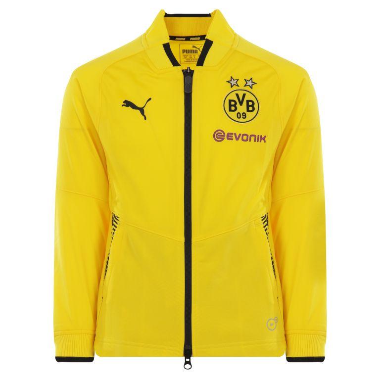 Veste survêtement junior Dortmund jaune 2017/18