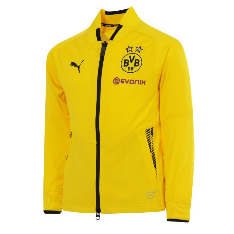 Veste survêtement junior Dortmund jaune 201718