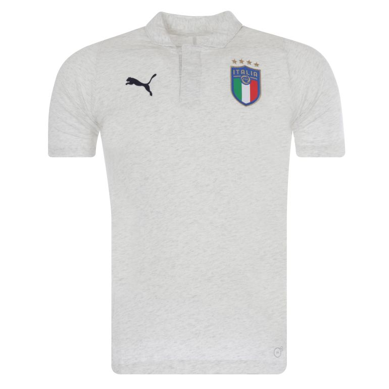 Polo Italie blanc 2018
