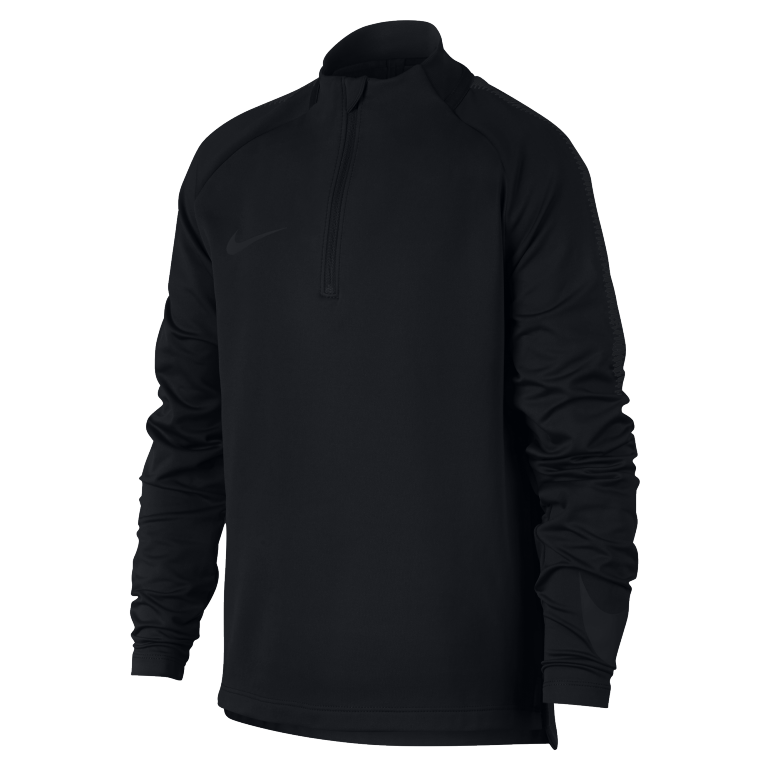 sweat zipp junior nike squad noir 2017 18 sur. Black Bedroom Furniture Sets. Home Design Ideas