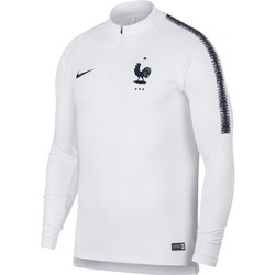 Sweat zippé Equipe de France blanc 2018