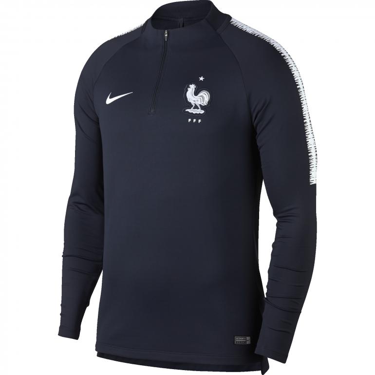 Sweat zippé Equipe de France bleu 2018