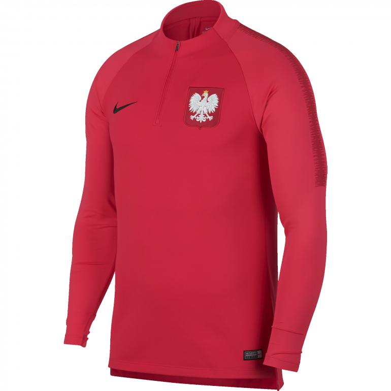 Sweat zippé Pologne rouge 2018