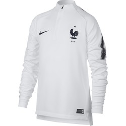Sweat zippé junior Equipe de France blanc 2018