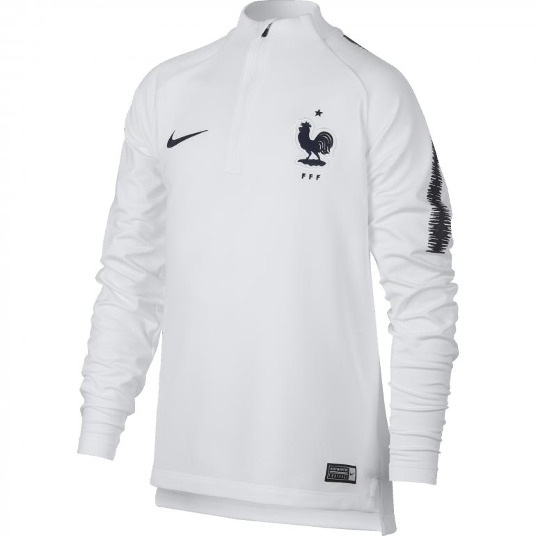 36c62766093bd Sweat zippé junior Equipe de France blanc 2018 sur Foot.fr