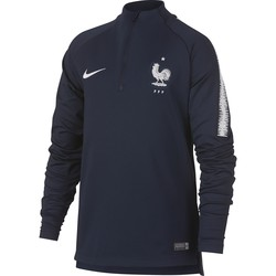 Sweat zippé junior Equipe de France bleu 2018