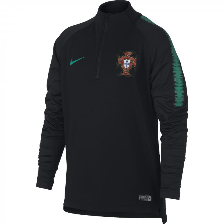 Sweat zippé junior Portugal noir 2018