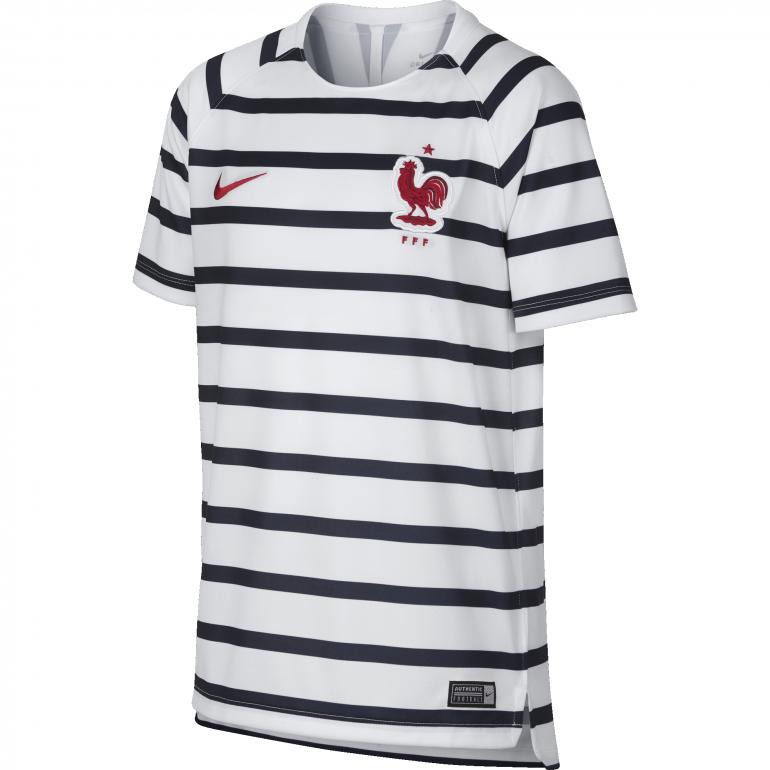 maillot entra nement junior equipe de france marini re blanc 2018 sur. Black Bedroom Furniture Sets. Home Design Ideas