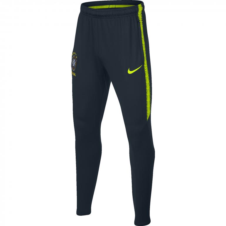 Pantalon survêtement junior Brésil noir 2018