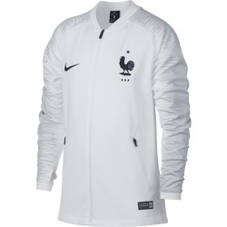 Veste survêtement junior Equipe de France blanc 2018