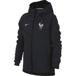 Veste à capuche junior Equipe de France Tech Fleece bleu 2018