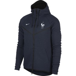 Veste à capuche Equipe de France Tech Fleece bleu 2018