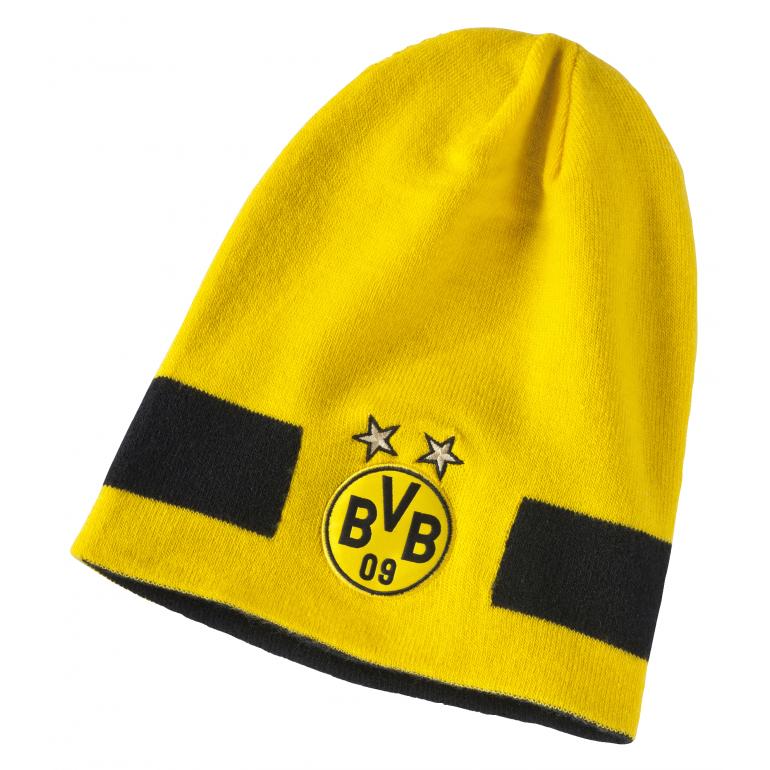 Bonnet réversible Dortmund jaune et noir