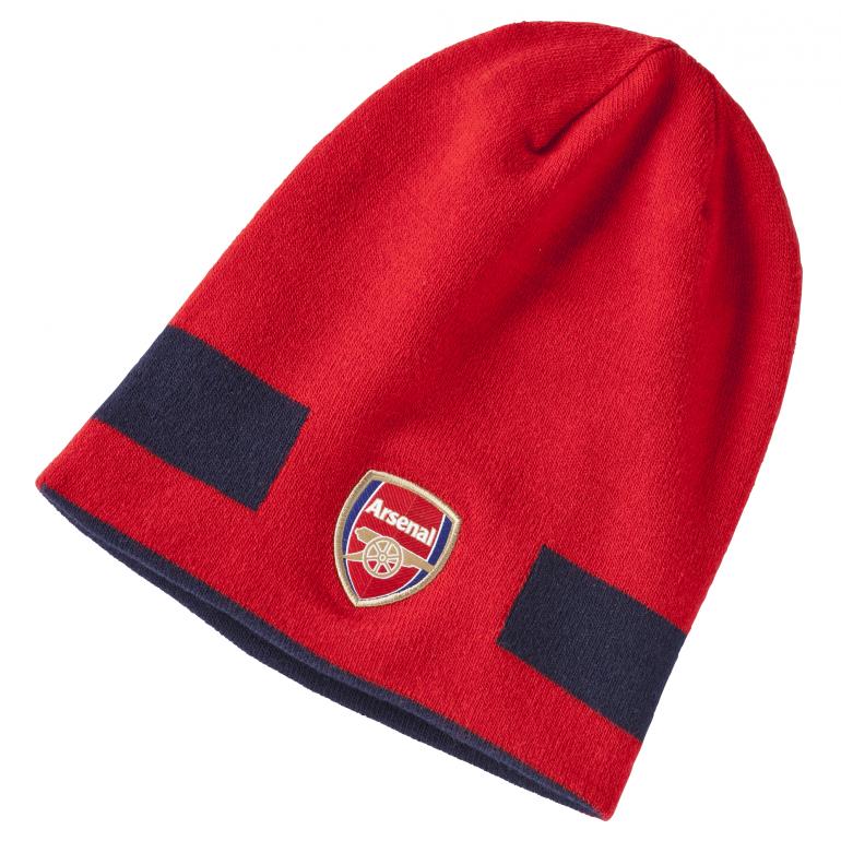 Bonnet réversible Arsenal rouge