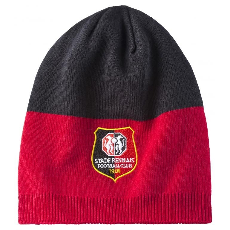 Bonnet Stade Rennais rouge et noir